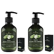 Combo Dầu Gội & Sữa Tắm Chiết Xuất Trái Nhàu Eccomorning 500ml Chai - Natural Handmade Noni Body Cleanser & Hair Shampoo thumbnail