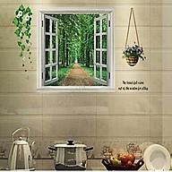 Decal dán tường cửa sổ xanh ay823 thumbnail