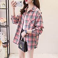 Áo sơ mi nữ kẻ sọc khoác ngoài - Phong cách thời trang Hàn Quốc Hot Trend Thu Đông 2020 - SSG105 thumbnail