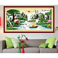 Tranh thêu chữ thập thêu kín Thuận Buồm Xuôi Gió (150 67cm) chưa thêu thumbnail