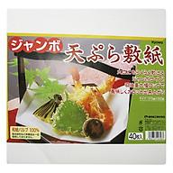 Set 40 Giấy Thấm Dầu Mỡ Đồ Chiên Rán - Nội Địa Nhật Bản thumbnail