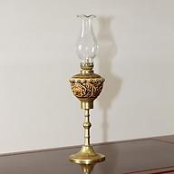 Đèn thờ dầu men cổ khắc nổi hoa Phù Dung gốm sứ Bát Tràng (đèn dầu, đèn thờ cúng) thumbnail