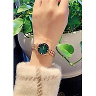 Đồng Hồ Nữ mặt xanh trơn thanh lịch thumbnail