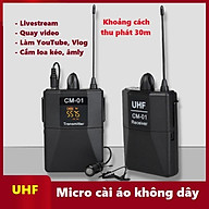 Micro cài áo không dây livestream, thu âm, quay video từ xa dùng cho điện thoại, máy quay phim thumbnail