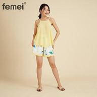 FEMEI - Đồ bộ 2 dây quần ngắn DNP038 thumbnail