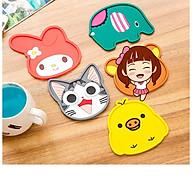 Combo 5 Miếng đế lót ly nhựa dẻo hoạt hình cute - Màu ngẫu nhiên thumbnail