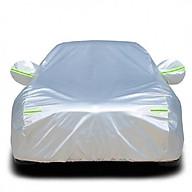 Bạt phủ ô tô tráng nhôm cách nhiệt cao cấp - Full size + Tặng tinh dầu treo xe thumbnail