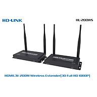 Bộ chuyển đổi thu phát HDMI 200M Ho-link HL-WS200 Point to Point ( không vật cản ) - Hàng nhập khẩu thumbnail