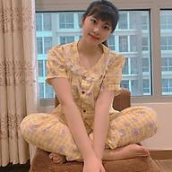 Bộ Đồ Nữ Mặc Trong Nhà Bộ Đồ Ngủ Hoa Cúc Dễ Thương DB002 MayBlue Chất Liệu Cate, Nhiều Họa Tiết thumbnail