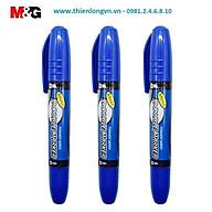 Combo 3 cây bút lông dầu 2 đầu M&G - 2110B mực xanh thumbnail