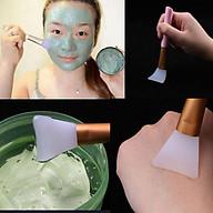 Cọ quét mặt nạ đầu Silicon cán hồng cao cấp (14x3cm) thumbnail