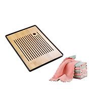Khay trà bàn trà gỗ có mâm hứng nước tiện lợi tinh tế nhiều kích thước TTU75398- Tặng Khăn rằn san hô thấm hút 2 mặt dày nhung TT908 thumbnail