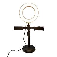 Bộ giá đỡ điện thoại 2 kẹp để bàn kèm đèn led - Hỗ trợ livestream hiệu quả - Hàng chính hãng thumbnail