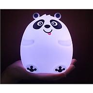Đèn ngủ cảm ứng chạm đổi màu panda ngộ nghĩnh, đáng yêu dành cho bé ( TẶNG KÈM BỘ 6 CON BƯỚM DẠ QUANG PHÁT SÁNG TRANG TRÍ PHÒNG NGỦ ) thumbnail