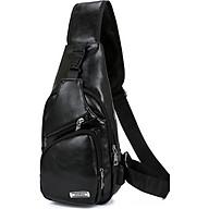 Túi đeo chéo nam da PU tiện dụng-đen thumbnail