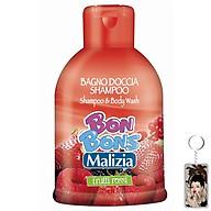 Sữa tắm gội trẻ em Malizia Bon Bons 500ml + móc khóa thumbnail
