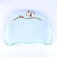 Gối cao su đa năng tiện dụng với 04 chức năng chống bẹp đầu, méo đầu, còm lưng và vẹo cổ cho trẻ sơ sinh- Màu xanh dương thumbnail