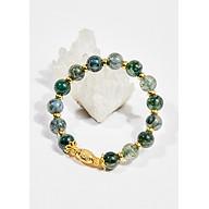 Vòng tay phong thủy nữ đá băng ngọc thủy tảo charm oval 8mm mệnh hỏa , mộc - Ngọc Quý Gemstones thumbnail