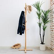 Cây Treo Quần Áo Gỗ Standing Hanger Nội Thất Kiểu Hàn BEYOURs - Gỗ Tự Nhiên thumbnail