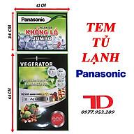 Tem dán dành cho tủ lạnh PANASONIC thumbnail
