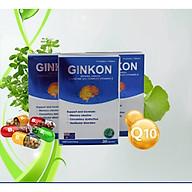 COMBO 3 HỘP Bổ não GINKON Úc giảm rối loạn tiền đình, tăng cường lưu thông máu hộp 30 viên hộp thumbnail