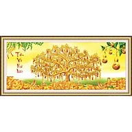 Tranh thêu chữ thập Cây Tiền Vàng (122 55cm) chưa thêu thumbnail