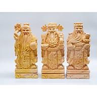 Bộ Phúc Lộc Thọ đá Cẩm thạch cam vàng - cao 30cm (Hợp mệnh Hỏa, Thổ, Kim hoặc Mộc) thumbnail