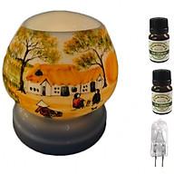 Combo Đèn xông tinh dầu tam giác TG7 và 2 chai sả chanh Eco oil 10ml và 1 bóng đèn thumbnail