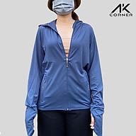 Áo khoác nữ chống nắng có nón, vải cotton pha co giãn 4 chiều, thấm hút, siêu thoáng mát, thích hợp mặc mùa hè thumbnail