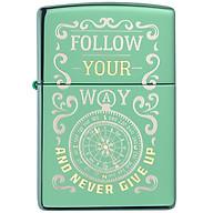 Bật Lửa Zippo 49161 Zippo Follow Your Way Design High Polish Green thumbnail