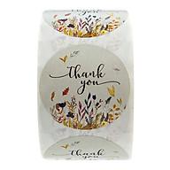 500 Mảnh Họa Tiết Hoa Cảm Ơn Bạn Stickers Niêm Phong Tròn Nhãn Giấy DIY thumbnail