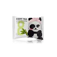 Khăn Ướt Tẩy Trang Mắt Môi BOM Chiết Xuất 8 Loại Trà Eight Tea Lips & Eyes Makeup Remover Pad 30 Miếng thumbnail