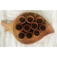 Bộ 10 Ly Gỗ Và Dĩa Gỗ Dừa Hình Lá thumbnail