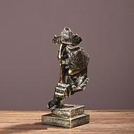 Tượng trang trí 3D thủ công mỹ nghệ Im lặng là vàng -Mẫu số 2 thumbnail