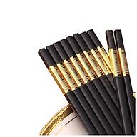 Set 10 Đôi Đũa Viền Vàng - Chịu Nhiệt - Chống Mốc - An Toàn Cho Sức Khỏe Làm Từ Sợi Thủy Tinh thumbnail