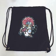 Balo dây rút đen in hình KIMETSU NO YAIBA anime chibi M1 túi rút đi học xinh xắn thời trang thumbnail