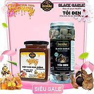Combo kết hợp Mật ong hoa rừng nguyên chất và Tỏi đen 500ml+hộp 500g Black garlic & Natural honey thumbnail