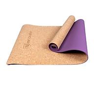 Thảm Tập Yoga Màu Gỗ 2 lớp 5MM Cao Cấp - Chính Hãng Hercule, 2 Lớp Chống Trượt, Bề Mặt Kháng Khuẩn, Chất Liệu Cao Su Đàn Hồi Cao Cấp Màu Gỗ bần, ACC.TPE&CORK.LIZ thumbnail