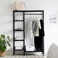 Giá Tủ Treo Quần Áo Gỗ Double Hanger Size M Nội Thất Kiểu Hàn BEYOURs - Đen thumbnail