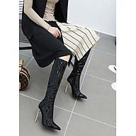 Boot ống cao dưới gối da bóng gót nhọn SANG CHẢNH GCC2701 thumbnail