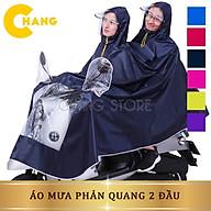 Áo mưa phản quang loại 1 đầu và 2 đầu ( chống mưa hắt, vải dù siêu bền) thumbnail
