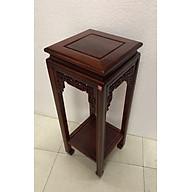 Đôn vuông kê tượng gỗ gụ phun màu sẫm, kê vật phẩm phong thuỷ, kê lọ hoa trang trí (sản phẩm có nhiều kích thước) TM121138 thumbnail