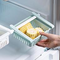 Bộ 2 khay rổ nhựa kéo dài đựng thức ăn thực phẩm trong tủ lạnh thông minh tiện dụng thumbnail