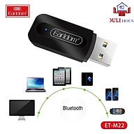 USB thu bluetooth Music + Jack âm thanh 3.5 mm, Bluetooth 2.0, thiết kế nhỏ gọn, bắt mắt, dễ dàng kết nối hệ thống âm thanh, hàng chính hãng thumbnail
