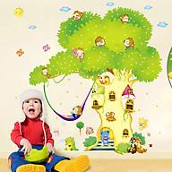 Decal dán tường trang trí phòng ngủ, lớp mầm non- Cây tổ khỉ- mã sp DXY1103 thumbnail