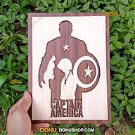 Tranh Treo Tường Gỗ Cắt Khắc Bằng Laser DOHU011 Captain America - Thiết Kế Đơn Giản, Độc Lạ, Sang Trọng thumbnail