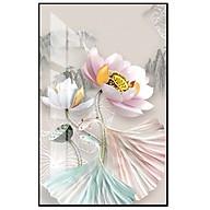 Tranh treo tường phòng khách phòng ngủ bóng kiếng pha lê Hoa sen nghệ thuật BK_0052 thumbnail