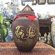 Chum sành đựng rượu gạo loại 20L gốm sứ Bát Tràng thumbnail