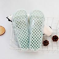Dép đi trong nhà tắm Nhà vệ sinh Massage Chân_Màu xanh ngọc & Xanh dương nhạt_ size M & L_ HÀNG XUẤT NHẬT CHÂU ÂU_hàng chất lượng tốt thumbnail