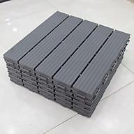 Vỉ Nhựa Lót Sàn 5 Nan (Nhựa Giả Gỗ Cao Cấp) Màu Xám (05 Miếng) thumbnail